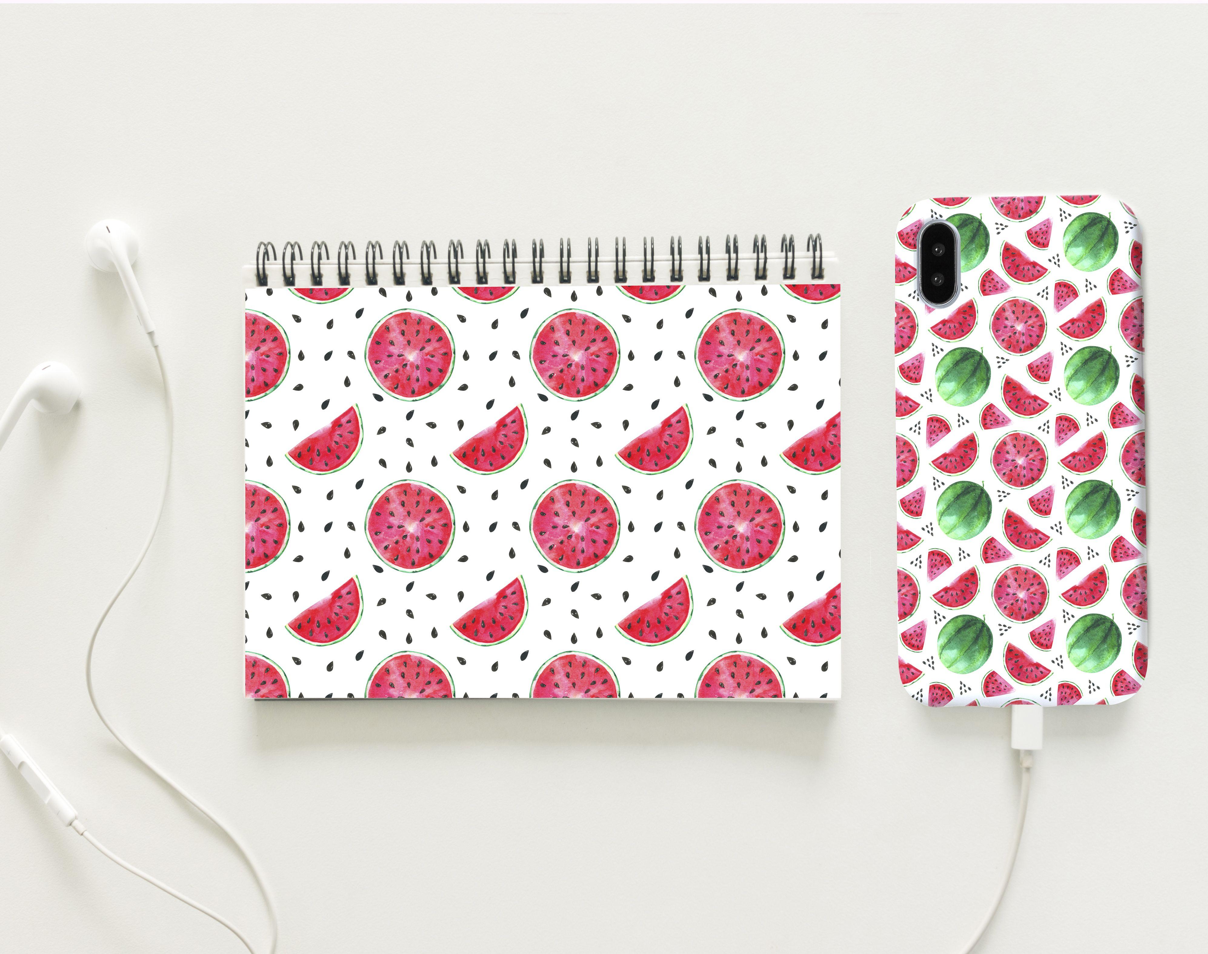 Photo of Seamless pattern watercolor watermelon, watermelon paper, Summer, fruit, Juicy, digital paper, print, background, scrapbooking, paper crafts