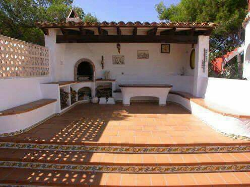 Mexican rustic style backyard grill sweet exteriors and - Casa campo y jardin ...