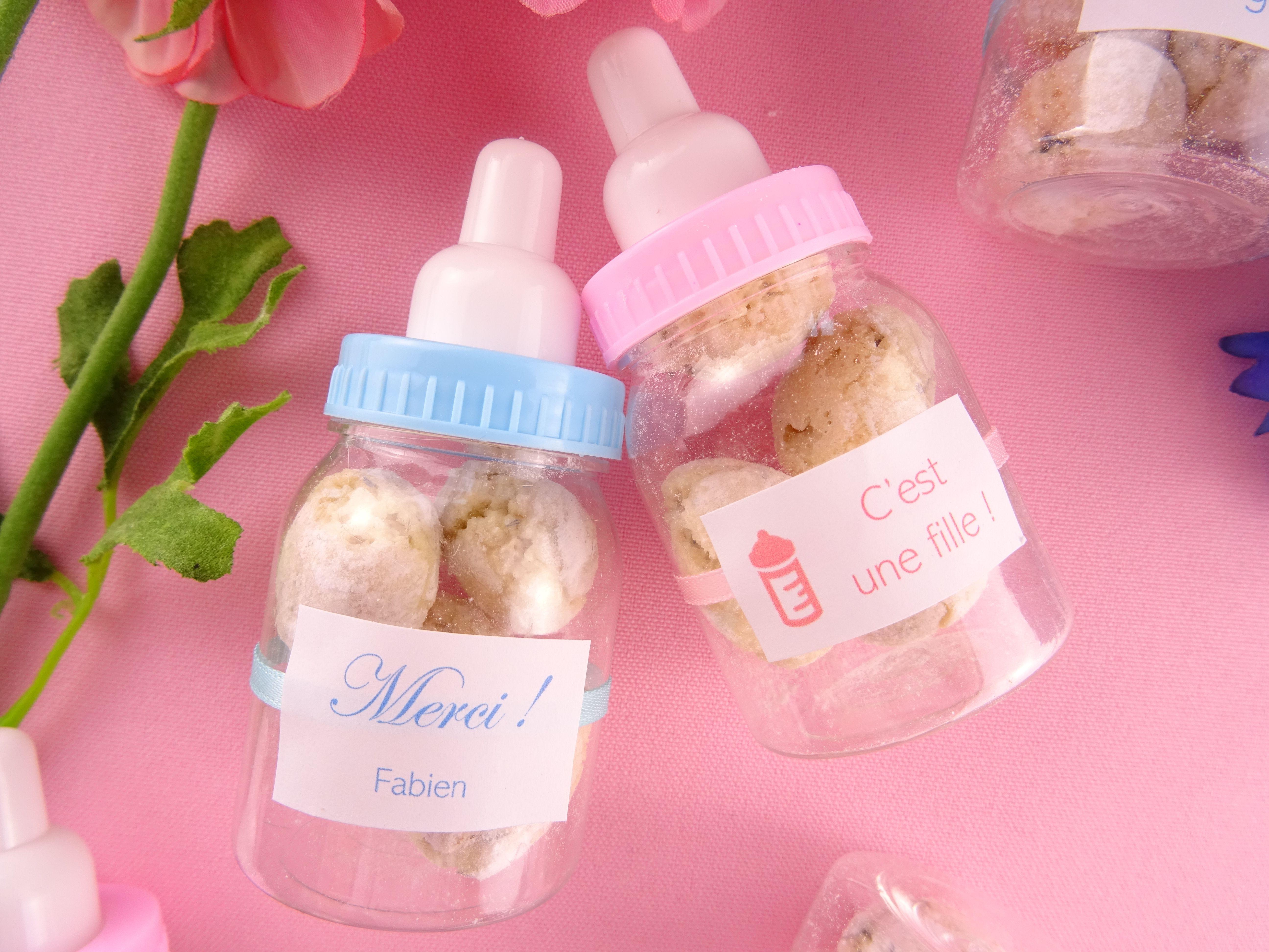 Biberon 4 Perles De Fleurs Personnalisable  Cadeau Invit &