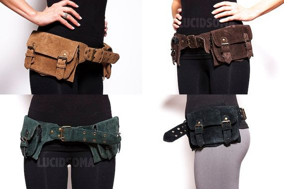 Hip Leather Waist Pack Bag Party Style Belt Utility Pouch