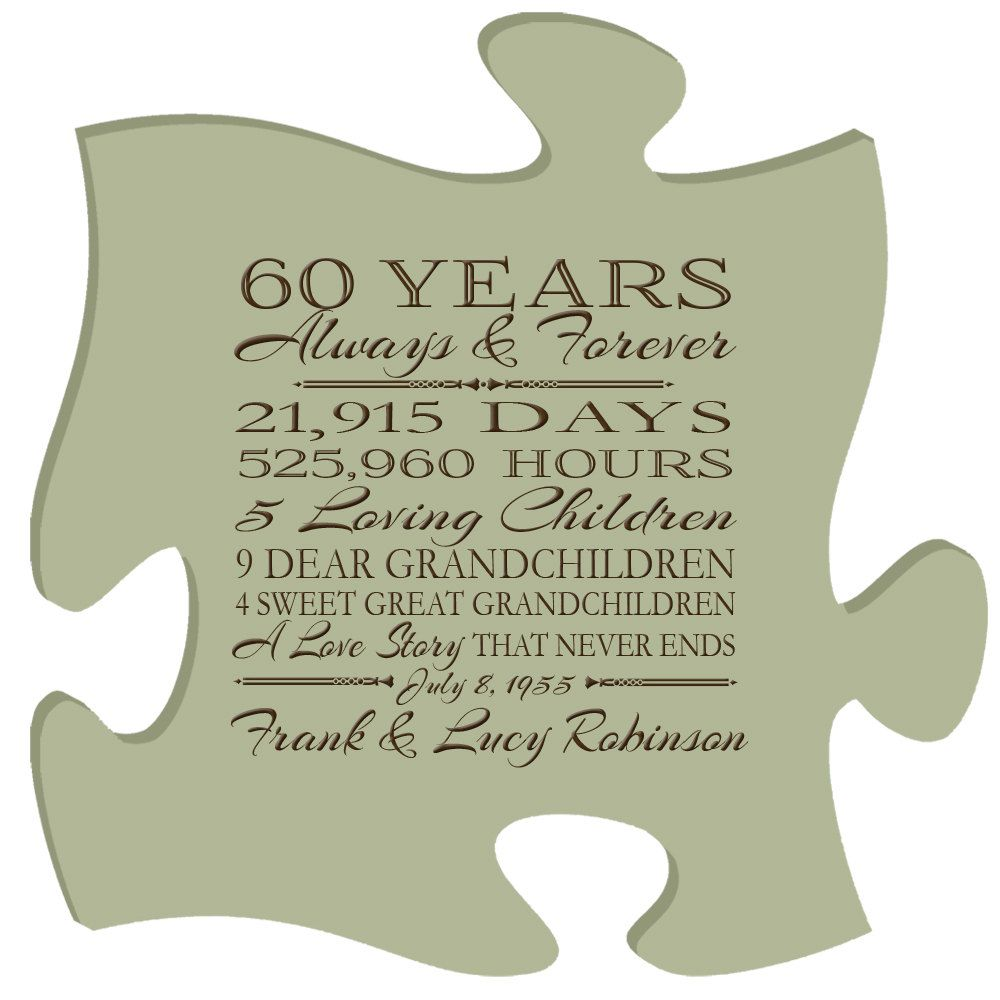 Gifts For 60th Wedding Anniversary: Personalized 60th Anniversary Gift For Him,60th