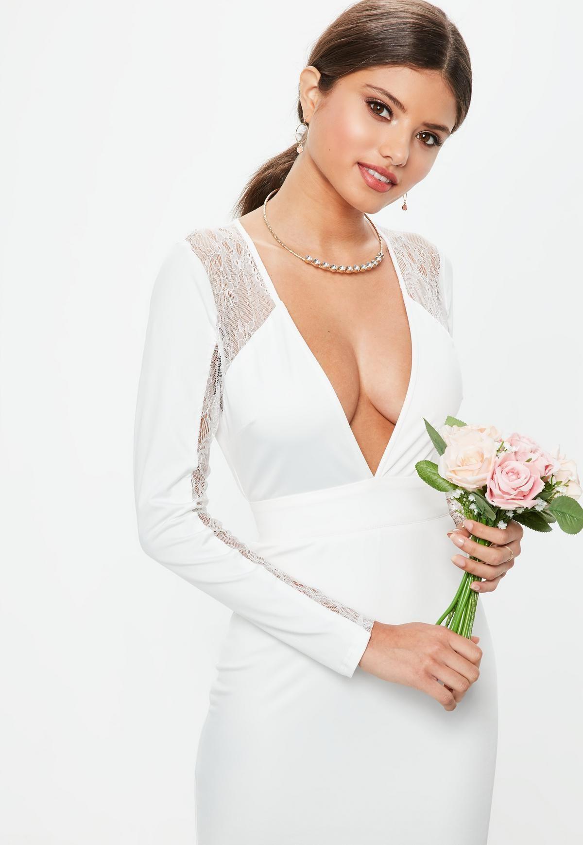 48++ Open back white lace wedding dress information