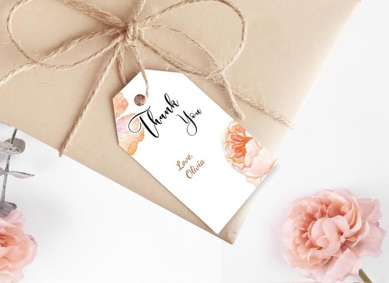 Editable Floral Baby Shower Thank You Favor Tags Gift Tags Editable Tags Thank You Tag Download Printable Corjl Template 0016 In 2020 Floral Baby Shower Baby Shower Thank You Floral