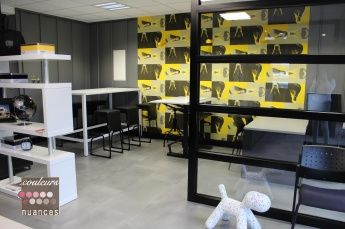 Décoration bureau archi décoration design noir et blanc papier