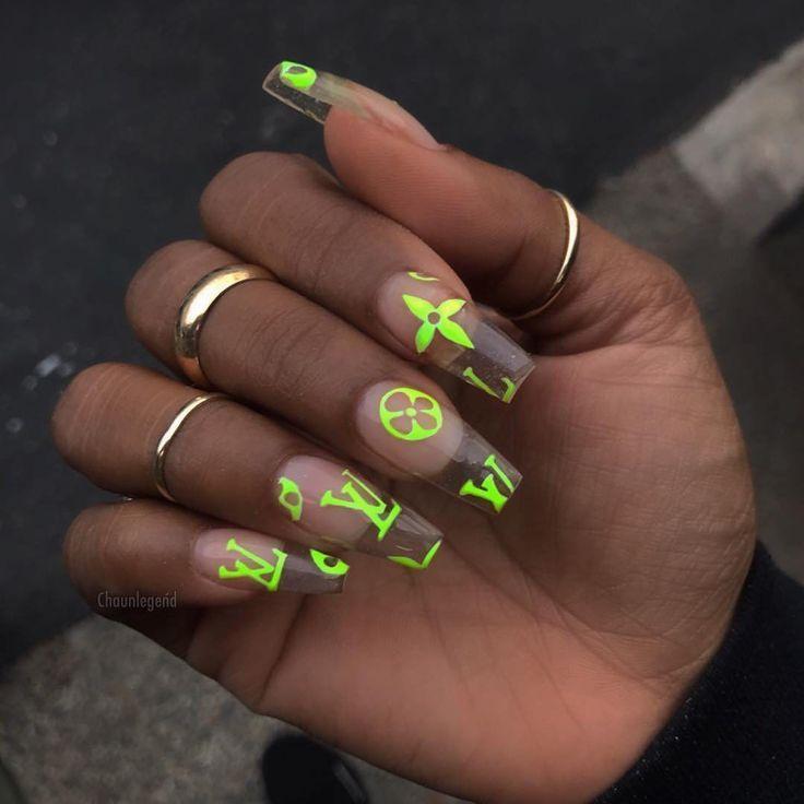 Www Publicdesire Com On Instagram Boujee Nail Spo With A Hint Of Lv Www Publi Neon Nagel Weisse Nagel Nagel Machen Lassen