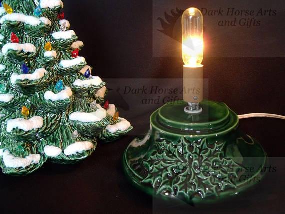 Winter Wonderland Ceramic Christmas Tree w/ Music Box 16 In