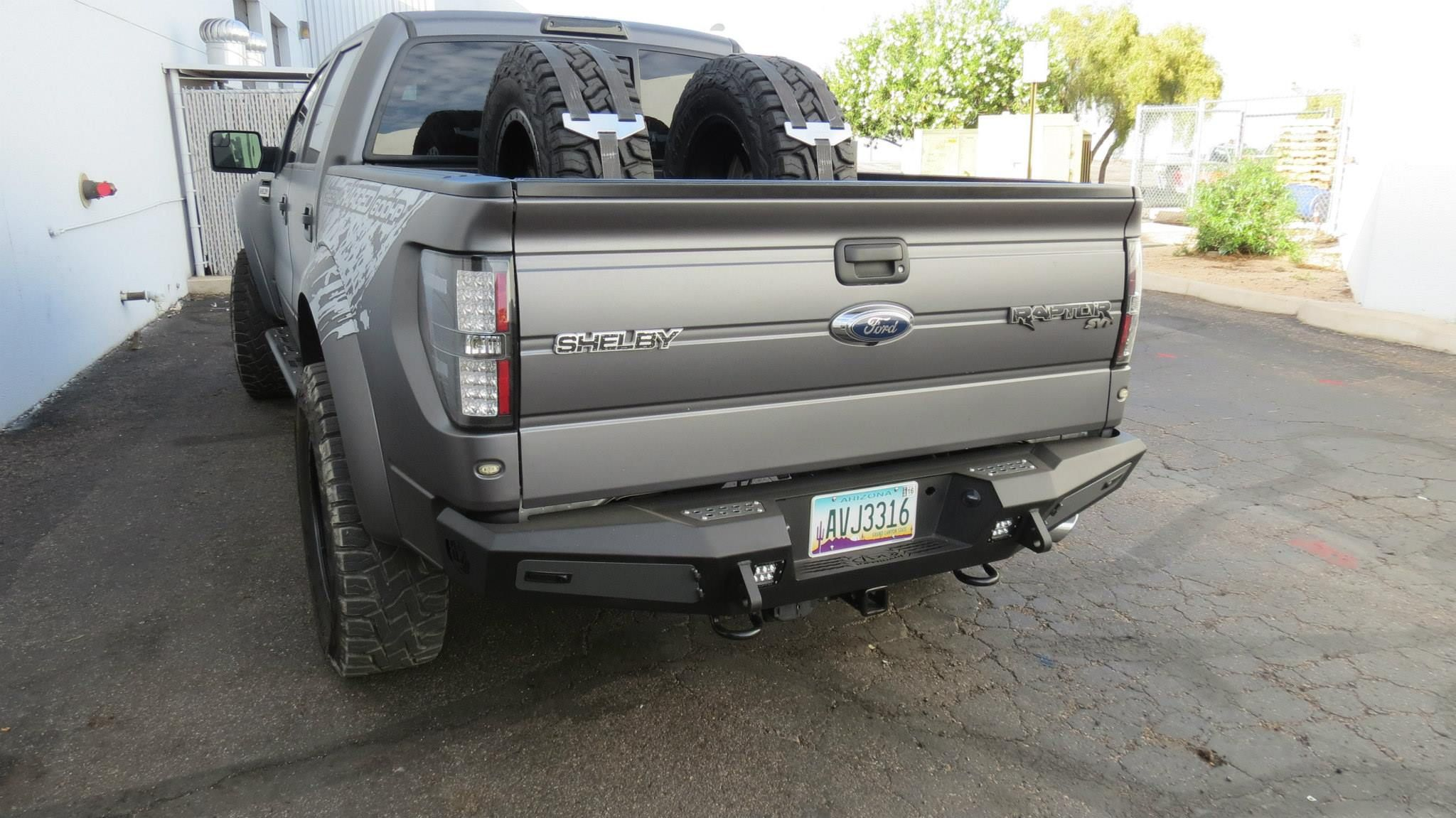 F150 Series Honeybadger Rear Bumper W Backup Sensors Tow Hooks