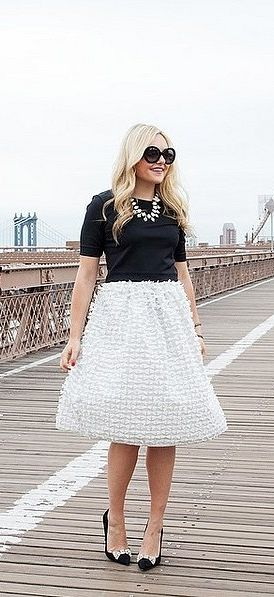 14 Preppy Fashion Bloggers You'll Follow Till the End of Time #fullskirtoutfit
