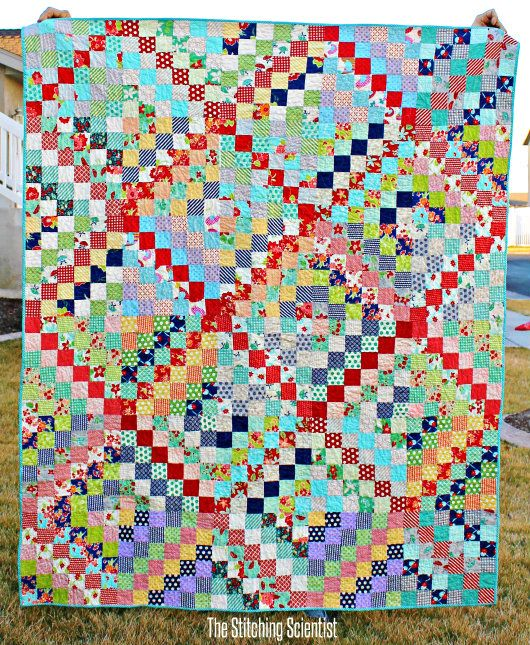 Scrappy Trip Along Quilt Pattern The Stitching Scientist Scrappy Quilt Patterns Scrap Quilt Patterns Quilt Patterns