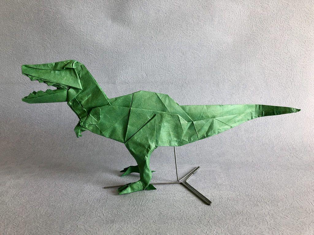 T Rex 2015 Fumiaki Kawahata 1 By Ferorigami Origami Dinosaur Fearsome Ancient Dragon Designed Satoshi Kamiya No Online Diagrams