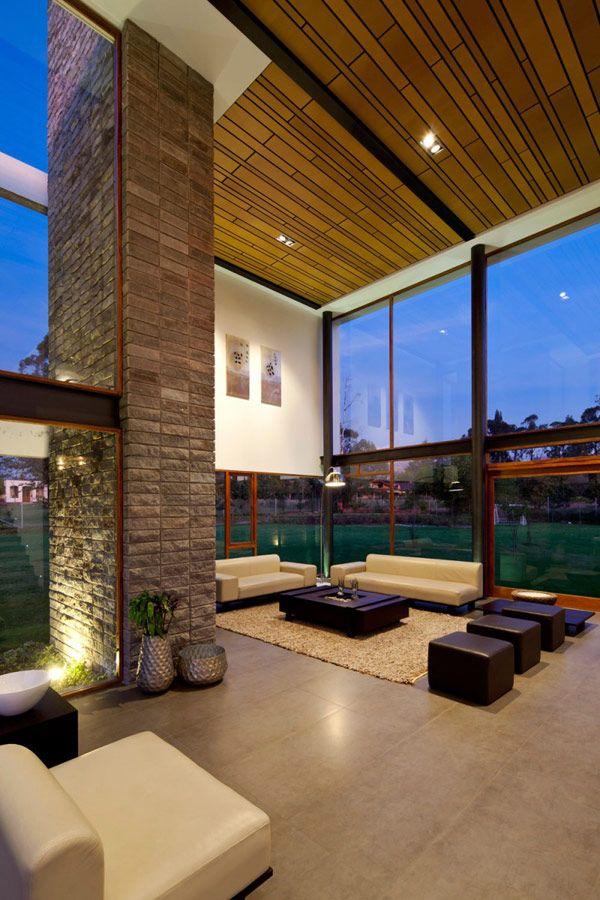 Marvelous Unusual Layout Revealed By Modern Casa 2V In Ecuador #livingroom · Living  SpacesLiving ...