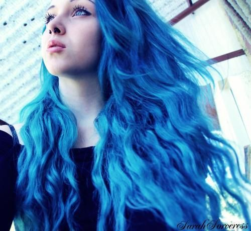Punkycolour Punkycolourhair Bluehair Coloredhair Diyhair