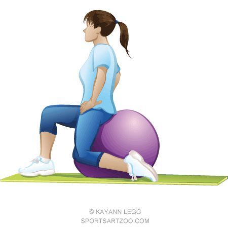 #female  #fitness  #illustration  #sportsartzoo #Exercise  Ball Exercise