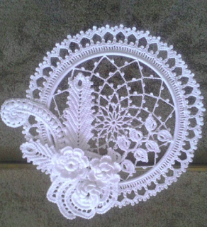 SUN LIGHT OR DREAM CATCHER 4 - Irish Lace dream catcher #irishcrochetflowers