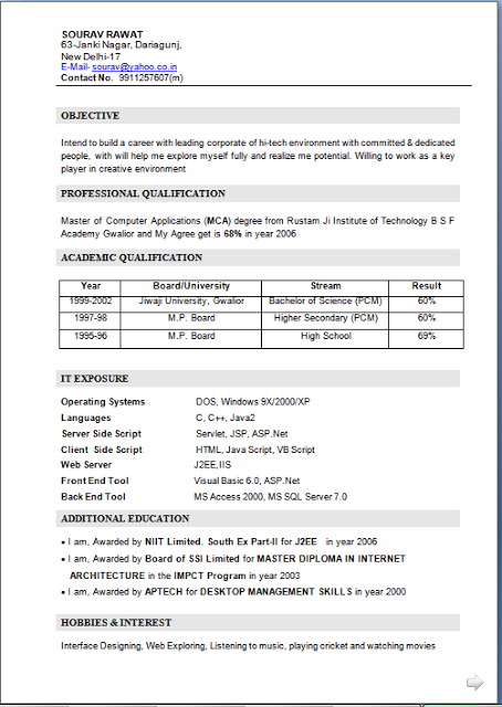 mca fresher resume template freedownload fresher cv format for mca studentwith career objective project summary in word doc pdf free download sourav - Mca Resume Format For Freshers