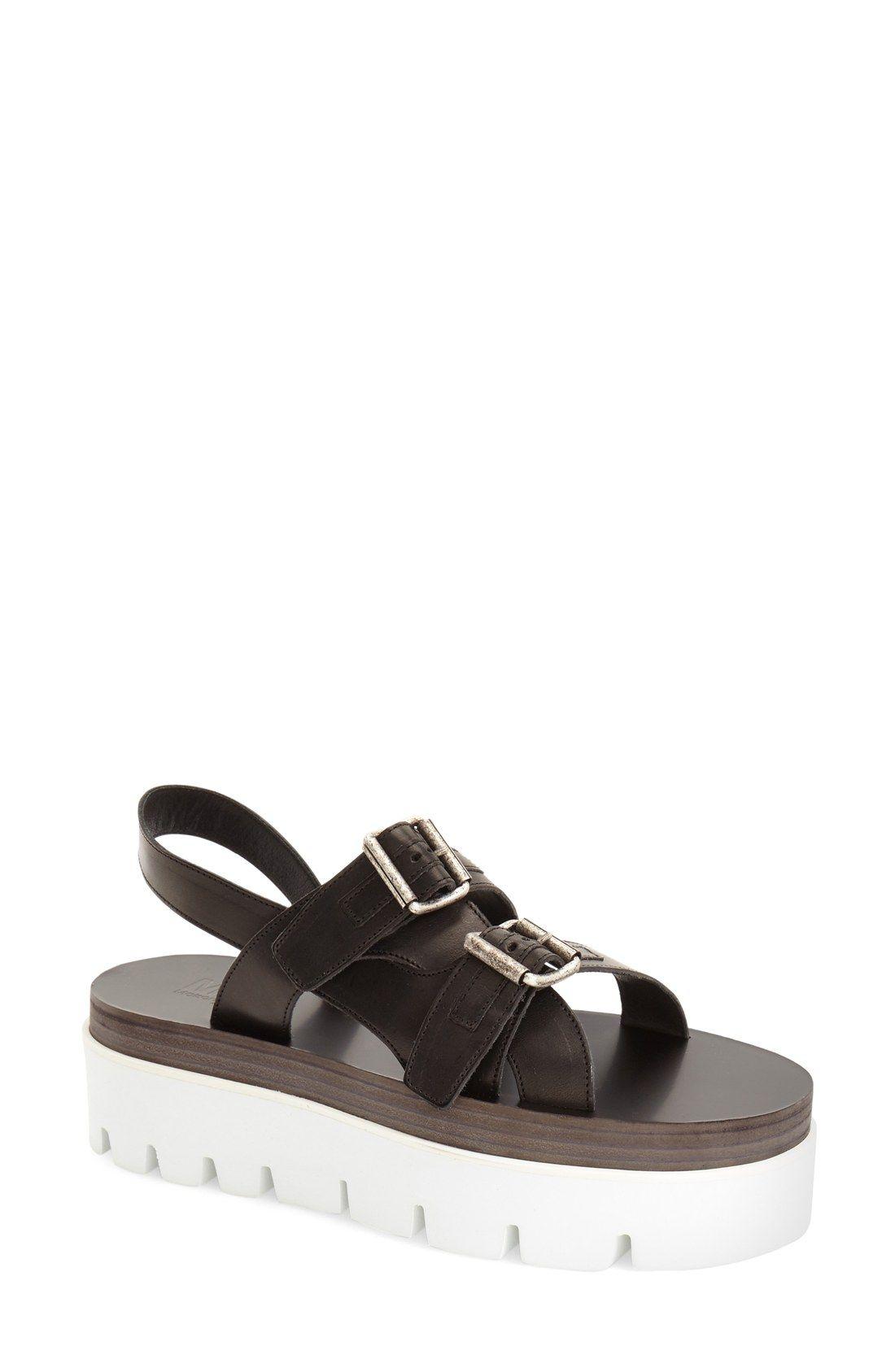 f0b4b83bf5c Black Leather · Nordstrom · MM6 Maison Margiela Strappy Platform Sandal  (Women)