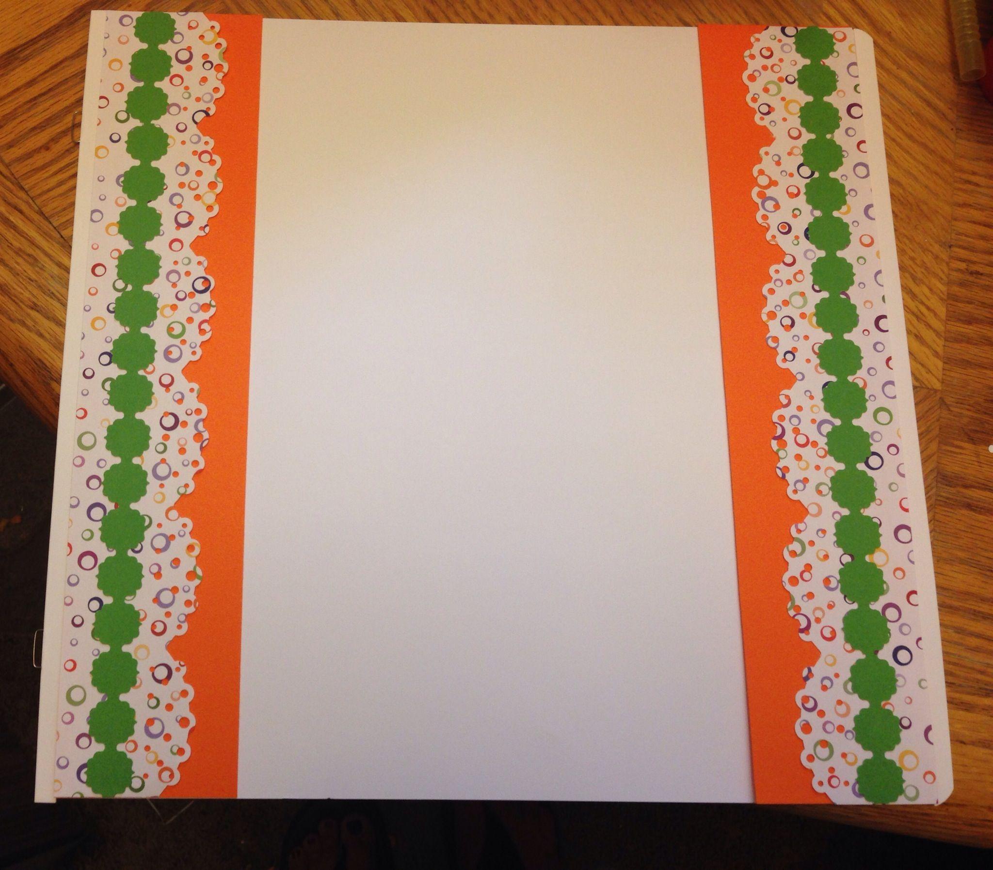 Scrapbook ideas creative memories - Scrapbook Border I Made Using Creative Memories Paper