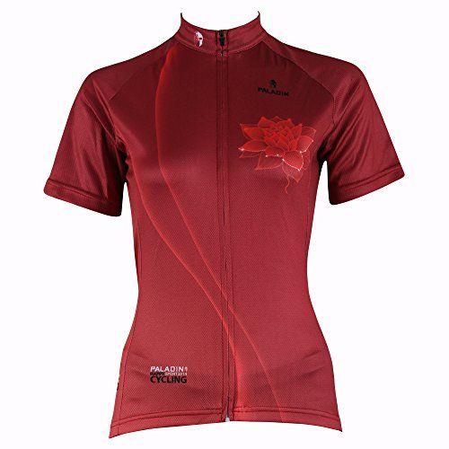 Paladin Cycling Jersey For Women Short Sleeve Lotus Pattern Bike