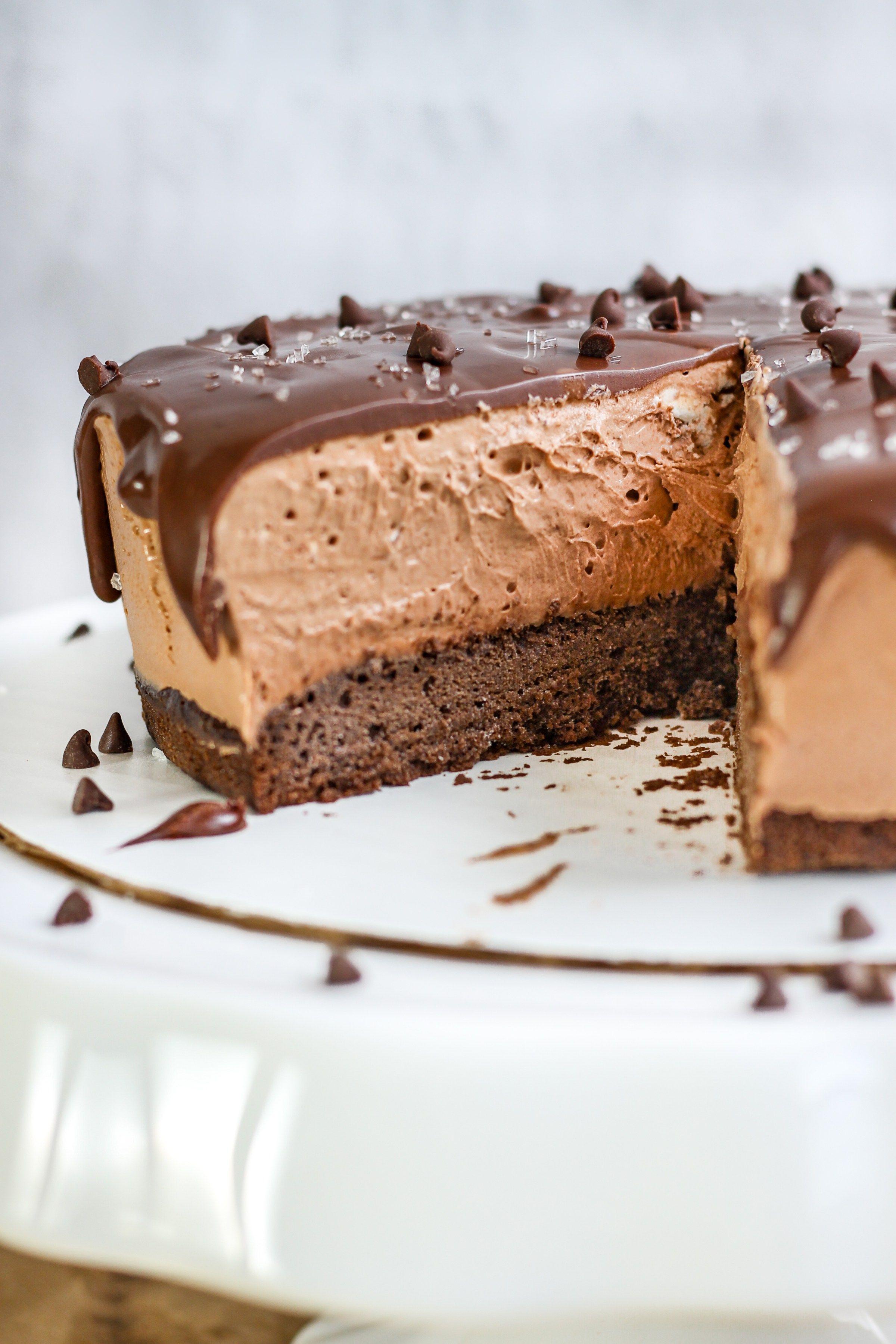 Astounding Nutella Chocolate Mousse Cake Recipe Chocolate Mousse Cake Birthday Cards Printable Giouspongecafe Filternl