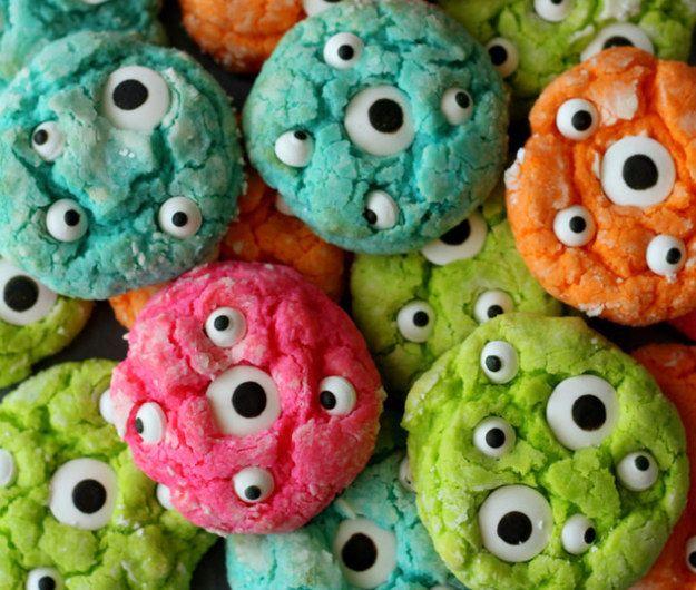 Gooey Monster Cookies Monster treats, Food and Recipes - halloween dance ideas