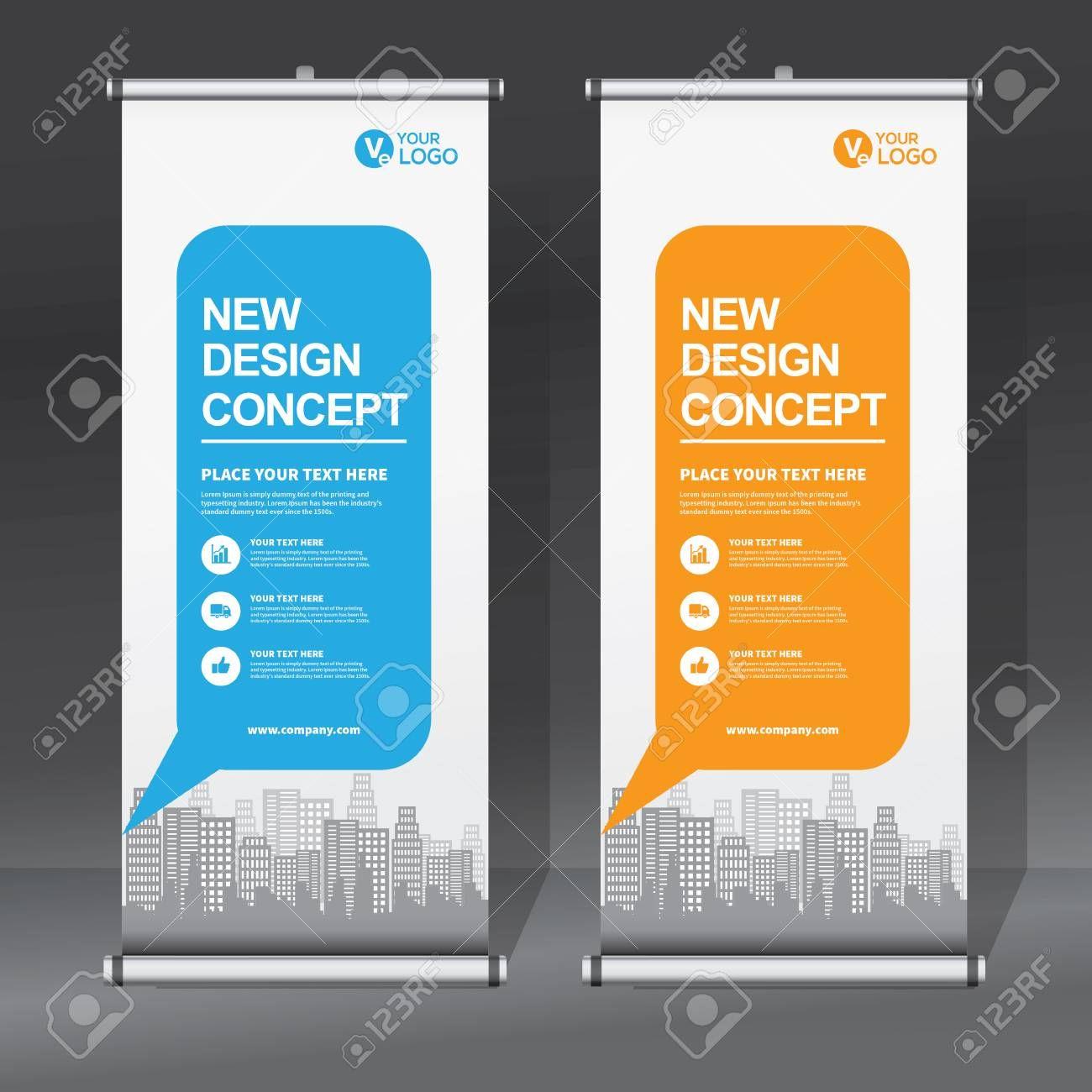 Roll Up Banner Design Template Vertical Abstract Background Pull Up Design Modern X Banner Rectangle Si Pull Up Banner Design Banner Design Concept Design
