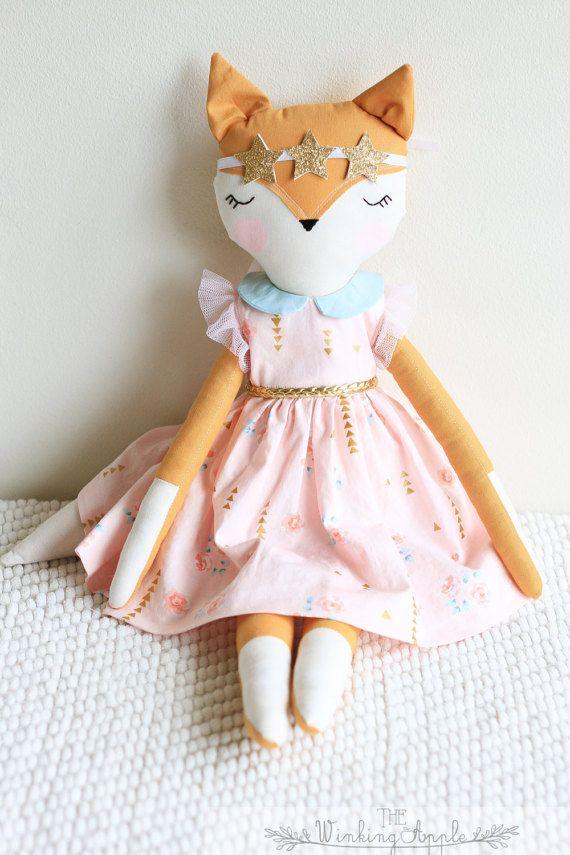 READY TO SHIP: Fox Doll Handmade Doll Fox Plush by TheWinkingApple