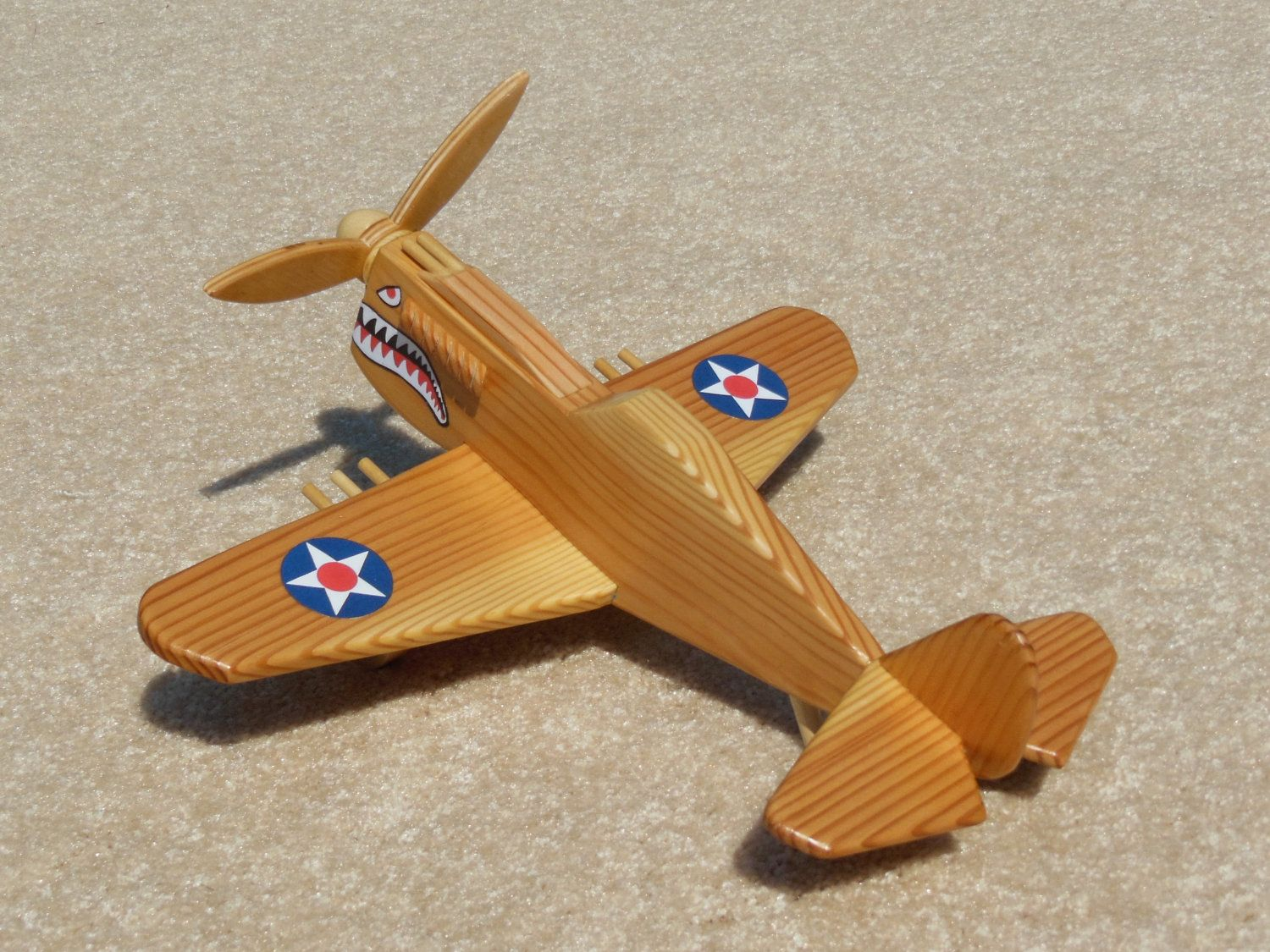 Wooden P-40 Fighter \'Flying Tiger\' Toy Plane | Pinterest | Wooden ...