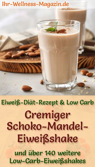 Schoko-Mandel-Eiweißshake - Low-Carb-Eiweiß-Diät-Rezept #dietmenu