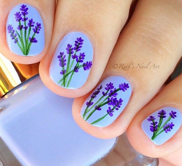 Pin By Susan Hill On Nails Lavender Nails Trendy Nails Flower Nails