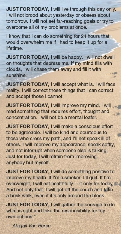 Just For Today Quotes Interesting Just For Today Positive Thoughts Pinterest Recovery Sobriety