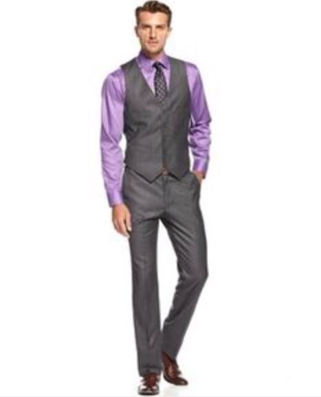 High Quality Custom Make Grey Groom Tuxedo Slim Fit Two Botton 2015 Man  Wedding SuitJacket Pants Tie VestBridgegroom/Boy Wedding Party