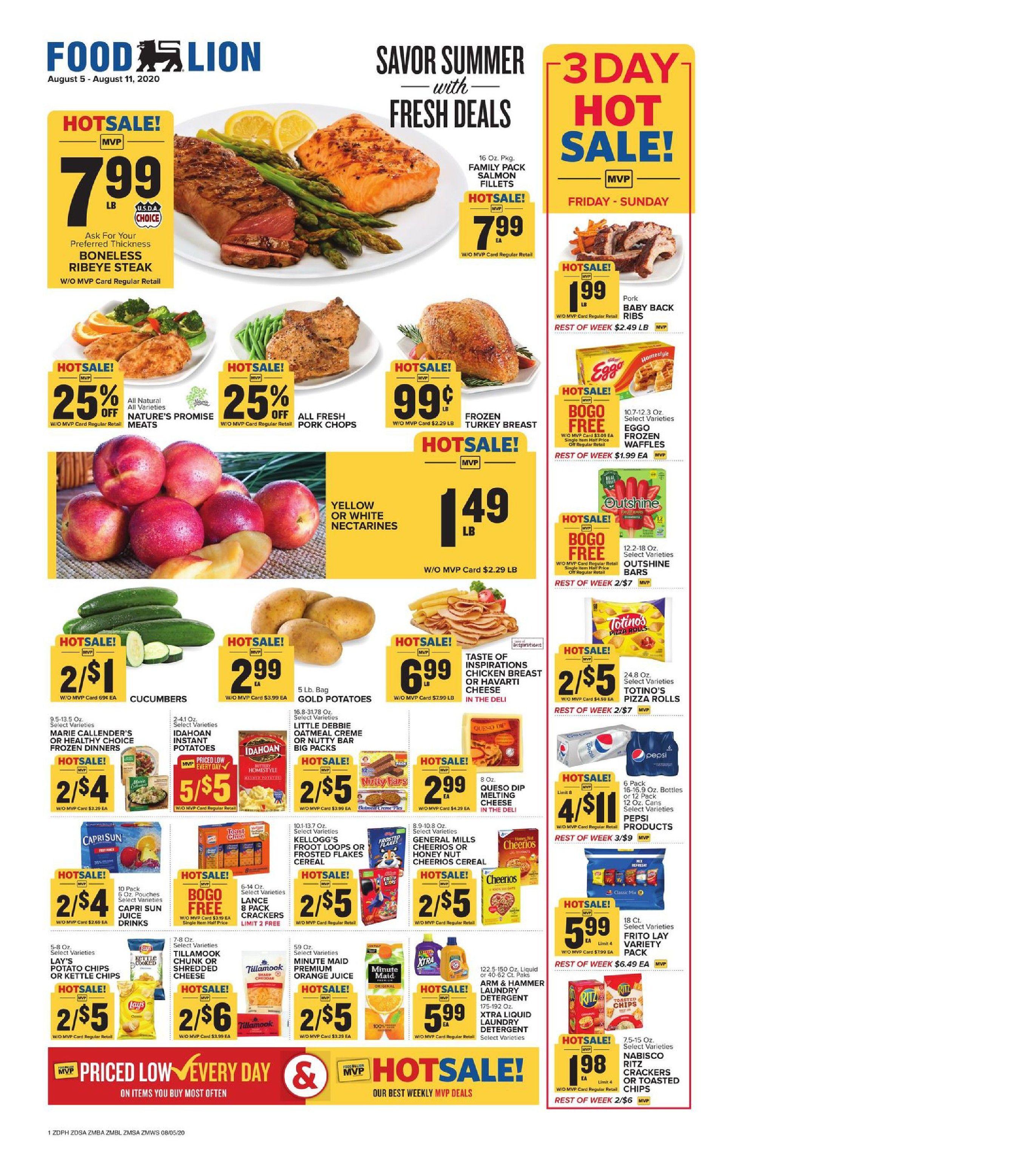 Food lion weekly ad aug 5 aug 11 2020 sneak peek