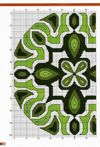زخارف لتطريز المفارش والبراويز والمخدات أشكال وخطوط عصرية مرسومة على رسم بياني مربع لتسهل عملية نقل الر Cross Stitching Stitch Patterns Cross Stitch Patterns