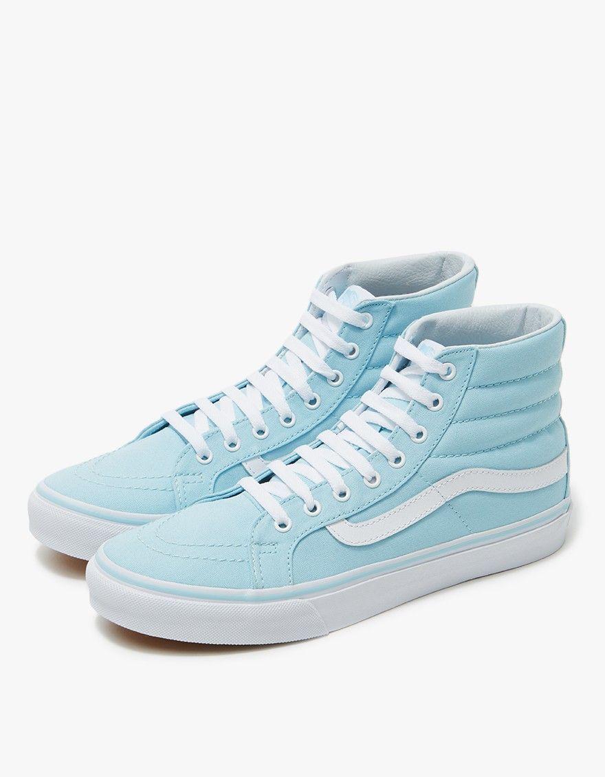 Vans   Sk8-Hi Slim in Crystal Blue White  023a84509c