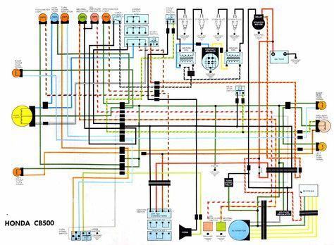 honda cb500 electrical wiring diagram jpg 1238 909 rh pinterest com Honda Motorcycle Wiring Color Codes Honda Motorcycle Wiring
