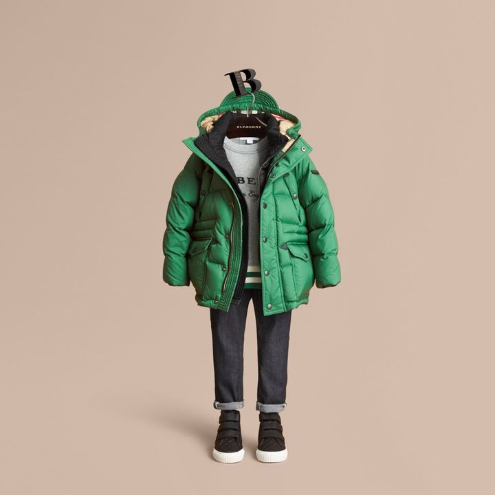 3862dd4ce Burberry Down-filled Hooded Puffer Jacket | KIDS CLOTHING | Puffer ...