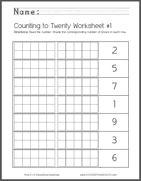 Set Of 8 Counting To Twenty Worksheets For Kids Common Core Math Kindergarten Kindergarten Math Worksheets Common Core Kindergarten