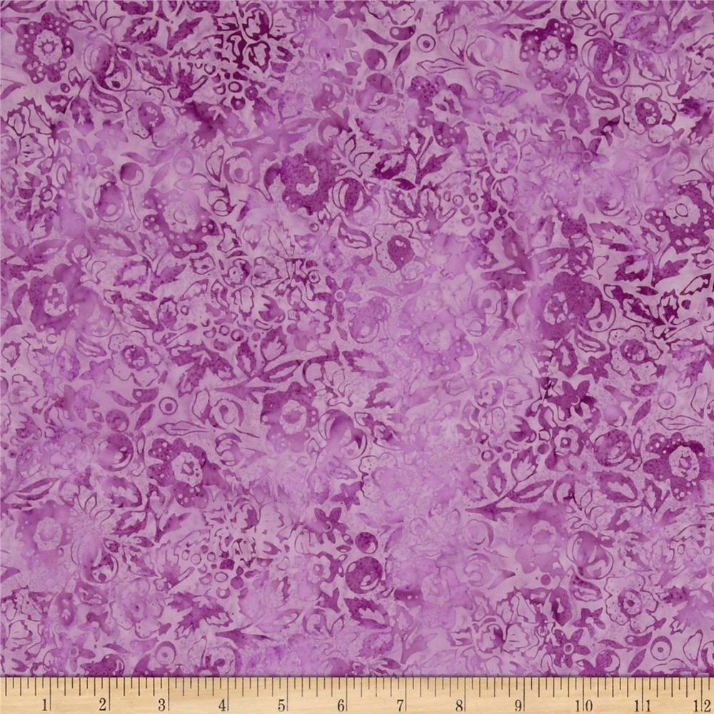 Modern Scrapbook Batik Graphic Floral Wildberry From