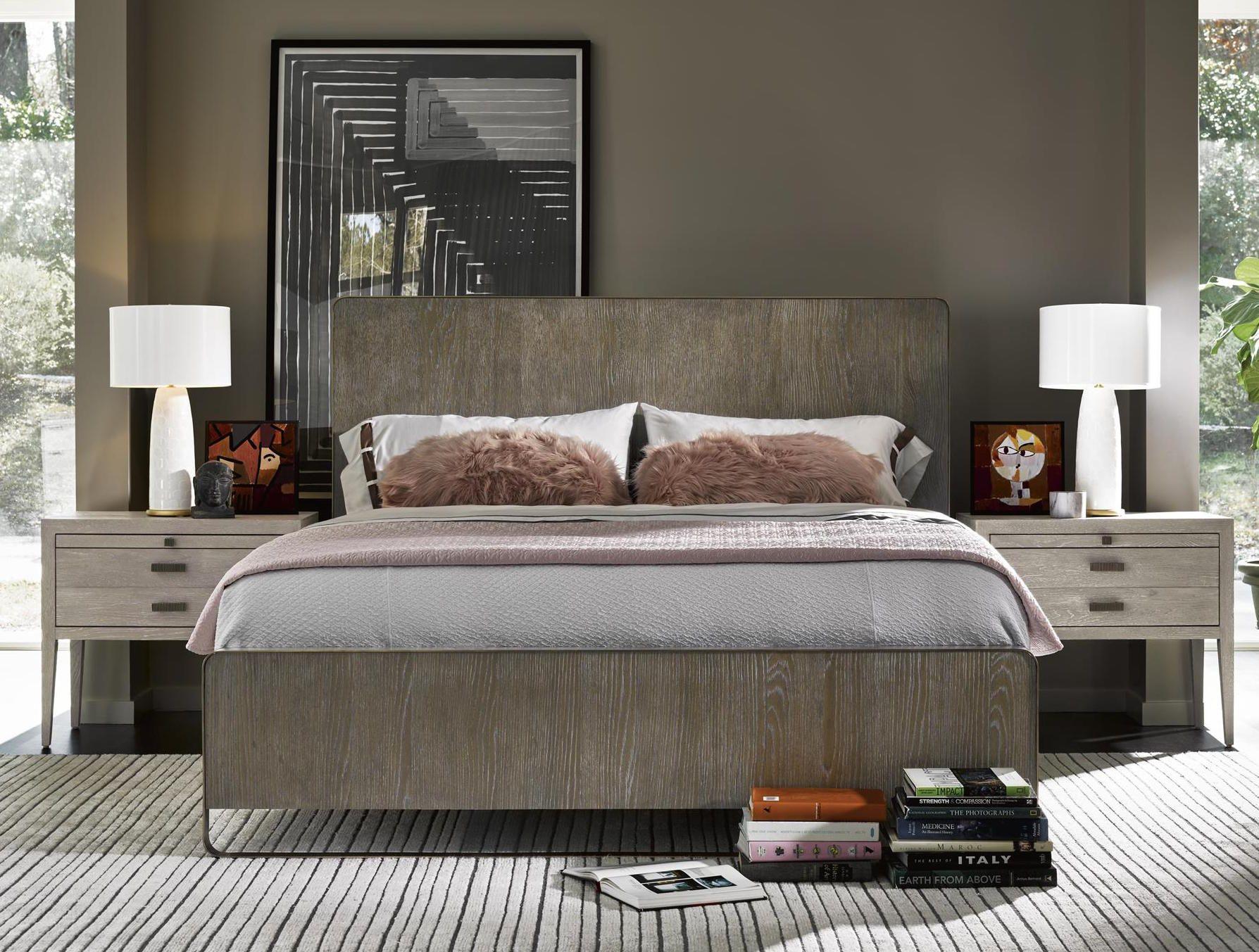 Modern Bedroom, Bed Down Furniture / Interior Design