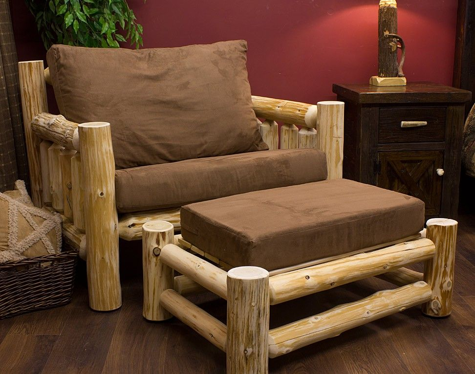 Cedar Lake Cabin Log Chair And A Half Rustic Log