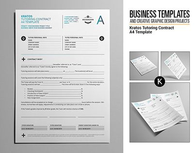 Check out new work on my @Behance portfolio \ - work contract template