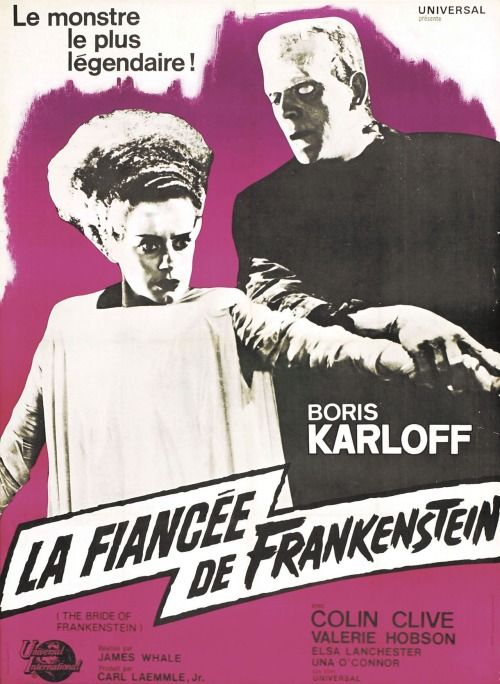Foreign Movie Posters-The Bride of Frankenstein (French
