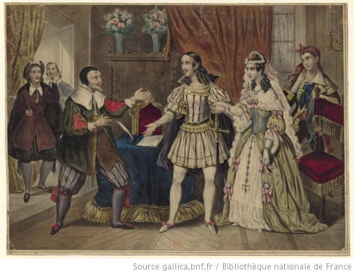 Le barbier de Séville,Scène du mariage.1800, Bibliothèque nationale de France.