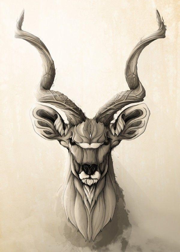 Kudú by Rafapasta CG | metal posters | Animales | Pinterest | Arte ...
