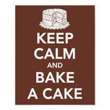 Keep calm and bake a cake poster | Zazzle.com #magariungiorno