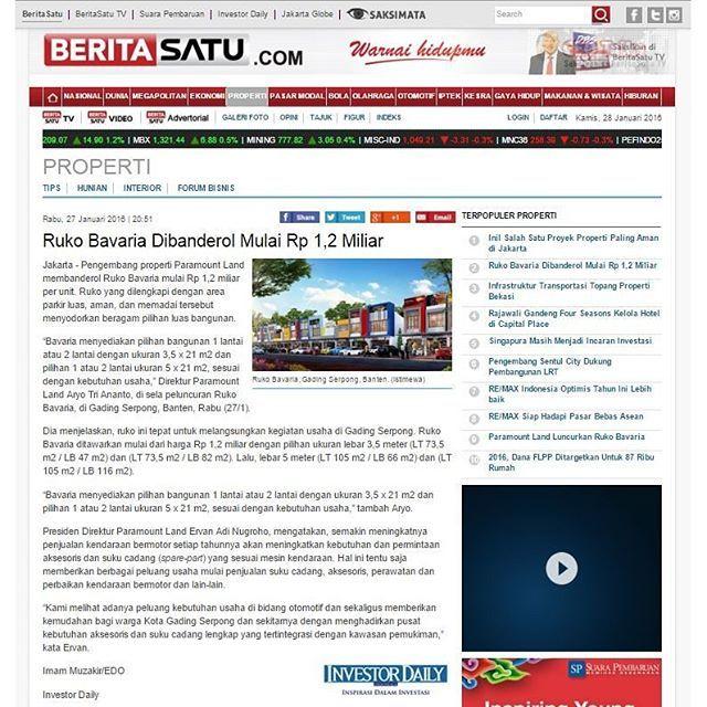 sale Ruko Bavaria Dibanderol Mulai Rp 1,2 Miliar via @Beritasatu  Selengkapnya di   #...