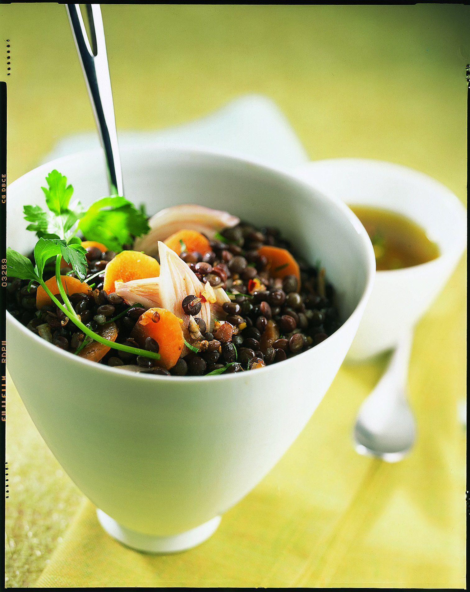 Salade de lentilles au curry | Salade de lentilles, Curry ...