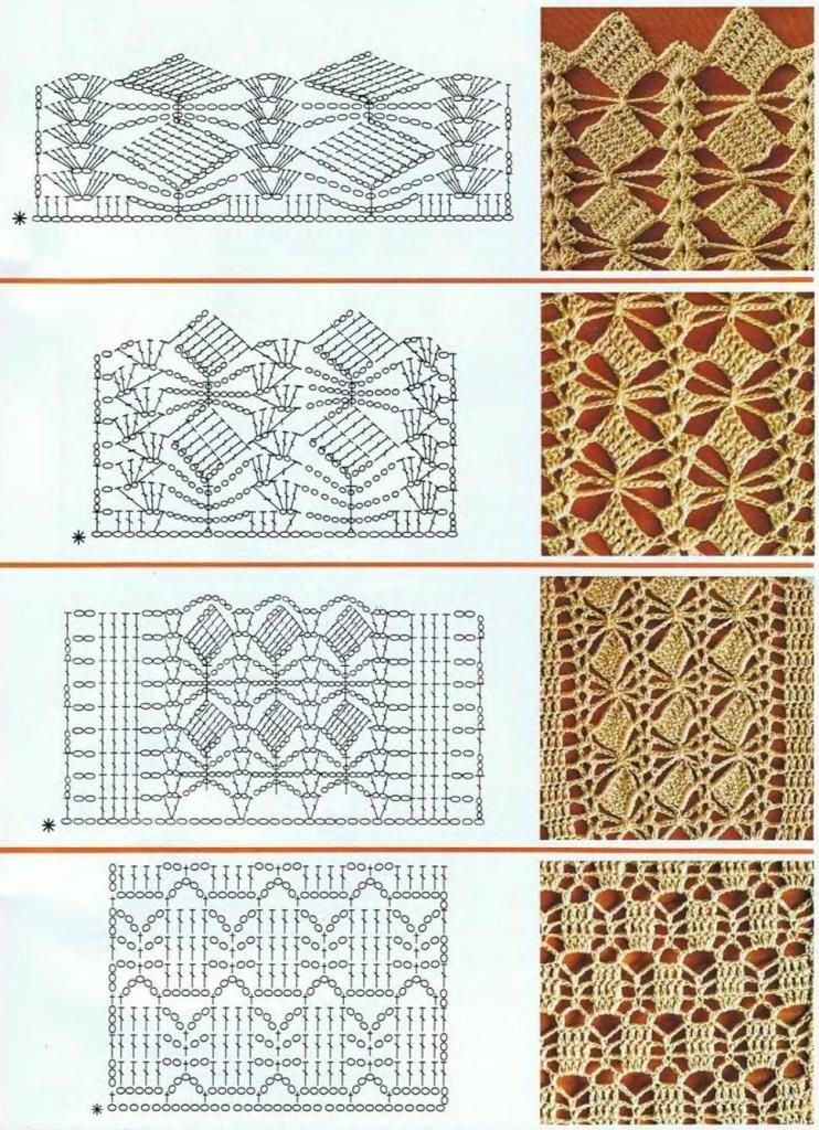 Crochet stitches: ENTREDOS | tejido | Pinterest | Croché, Ganchillo ...