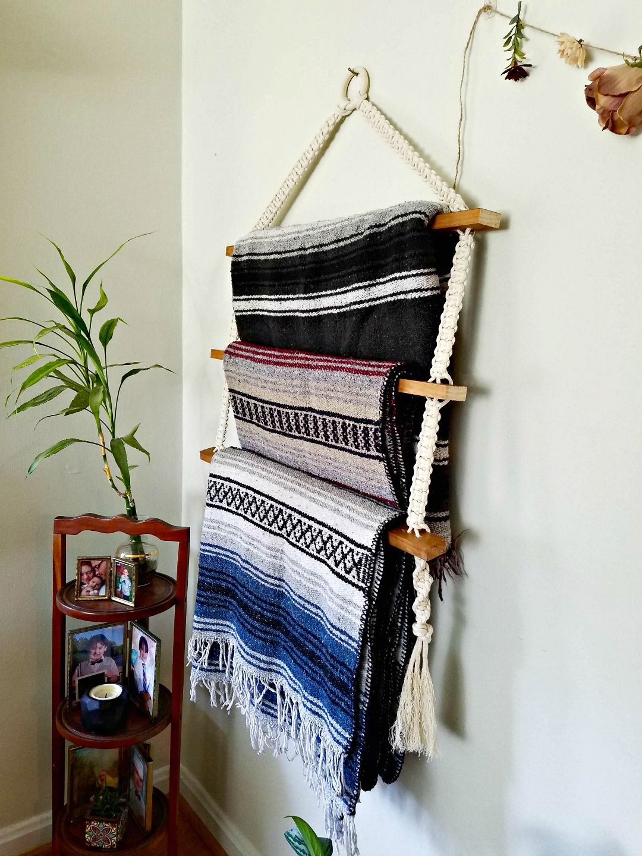 DIY Macrame Blanket Ladder Tutorial in 2020 Blanket