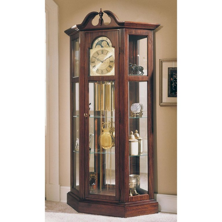 Curio Cabinets At Big Lots With Images Grandfather Clock